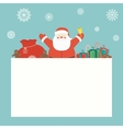 Christmas card with Santa Claus and christmas vector image