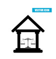 court building icon with scales of justice vector image