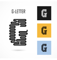 Creative G - letter icon abstract logo design vector image