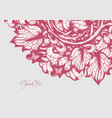 hand drawn floral design vector image