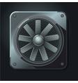 industrial fan air ventilation realistic metal vector image