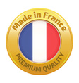 Made in France badge gold vector image