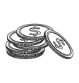 moeny coin pile business finance vector image