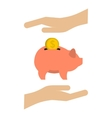 Money box icon flat style vector image