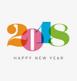 New-year-2018-colorful-numbers vector image
