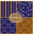 Set of seamless patterns with cartoon stars and vector image