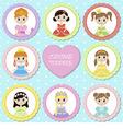 Tags with princess theme vector image