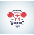 Strong Hand Workout Abstract Emblem Label vector image