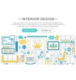 modern line flat Interior design decor vector image vector image