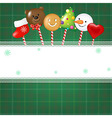 Christmas Card With Candies vector image