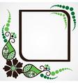 green flower leaf frame background vector image