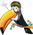 jamaican toucan cartoon isolated on white vector image