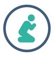 Pray icon vector image