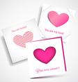 Card Love Pink vector image