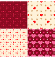 Seamless patterns for Valentines day vector image