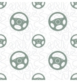 Car Steering Wheel Seamless Pattern vector image
