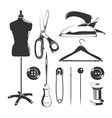 elements for tailor labels vector image