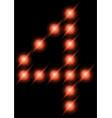 led digits 4 vector image