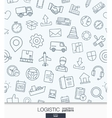 Logistic business wallpaper Delivery and vector image