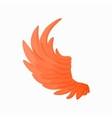 Orange wing icon cartoon style vector image