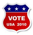 patriotic vote sticker vector image