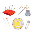 sewing needles and pins vector image