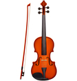 Violin with the fiddlestick light vector image
