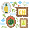 Portrait of the fruits vector image