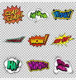 funny sound effect vector image
