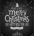 Christmas poster - Chalkboard style vector image vector image
