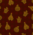 Red Chirstmas pattern vector image