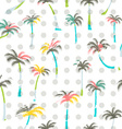 Pattern of palm trees Palm trees seamless vector image vector image