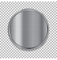 Tech metallic texture circle button vector image vector image