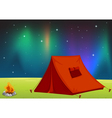 Camping Field vector image vector image
