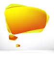 Abstract orange warm speech bubble EPS8 vector image