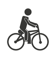 bicycle man biker icon vector image