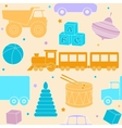 Bright seamless pattern with toys vector image