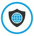 Global Shield Icon vector image