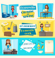icons for housework cleaning washing sewing vector image