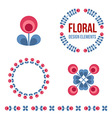 Set of design elements - retro flowers vector image