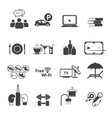 sport club icons set vector image