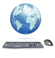 Global Computing Concept vector image vector image