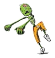 Zombie sketch isolated on white vector image vector image