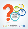 question mark infographic presentation vector image vector image