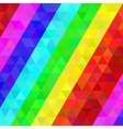 Colorful geometric pattern in rainbow colors vector image vector image