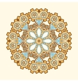 Circle lace steampunk ornament round ornamental vector image