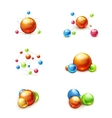 Molecule icon set vector image