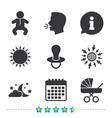 moon and stars baby infant icon buggy dummy vector image