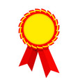 ribbon award red golden vector image