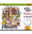 counting people activity task vector image vector image